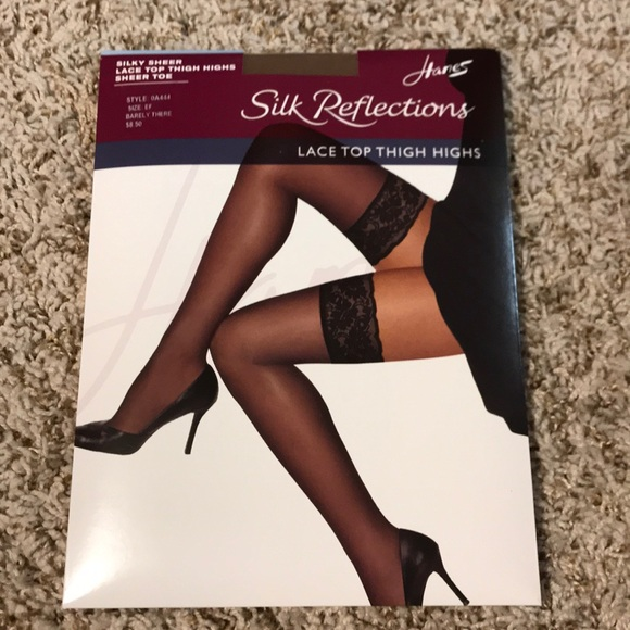 75c4197b6b7 Hanes Silk Reflections Thigh Highs